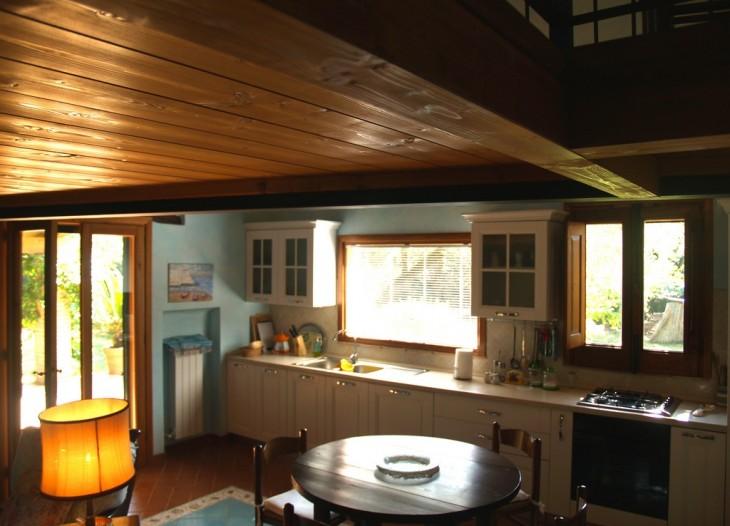 Salone e Cucina dell'appartamento Bouganville